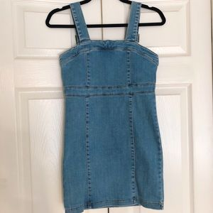 Bardot Jr Nordstrom Denim Pinafore Dress XS 14